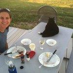 Dinner on the veranda with Cowboy