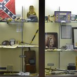 Part of the extensive display of American Civil War artifacts