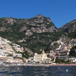 View of Positano from the sea
