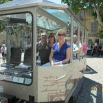 Here is the little train to take you around Avignon