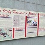 Outdoor exhibit on slavery