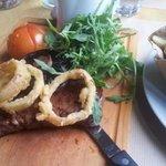 juicy steak & perfect crispy onion rings