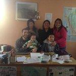 Con Andrés, unas amigas del Caith y mis hijos.
