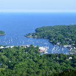 view of Camden from Mount Battie in Camden Hills State Park