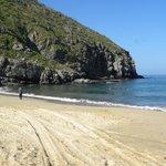 Remote beach near Pescadore