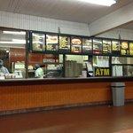 Order window below menu at Lucky Boy