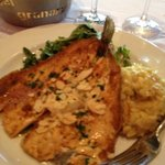 trout with risotto