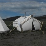 Typical Safari Tent and a Tipi