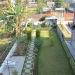 garden view from roof top