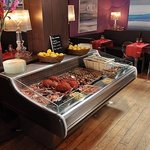 Le buffet de fruits de mer
