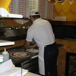 The brilliant pizzaiolo at work at La Campana