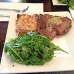 Rib Eye Steak Cooked with Blue Cheese