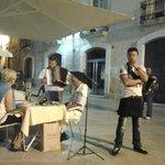 lots of street musicians