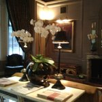 Reception area - definate Edwardian theme throughout hotel