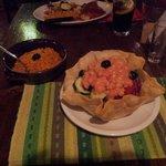 Cocktail di gamberi e riso messicano