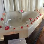 Jacuzzi decorated for our anniversary