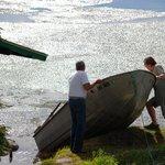 Watering the boat after winter break