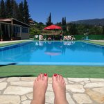 Very happy feet but a numb bum form the sun loungers!