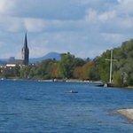 Blick vom Strandcafe/Bootsteg Richtung Radolfzell