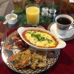 Sicilian omelet at breakfast
