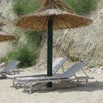Topola Beach Sun Beds & Umbrella