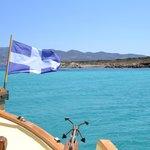 Il mare di Paros visto dalla barca