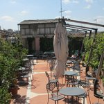 One part of the roof-top terrace