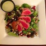 Ahi Tuna Misto Salad with homemade Wasabi Dressing