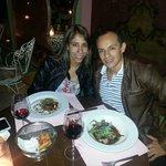 Cena en la terraza de Antigua