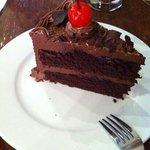 chocolate cake at JoMA Laos