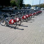 public use bicycles right by the hotel
