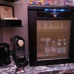 Mini bar and nespresso coffee machine