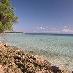 il mare della piccola isola