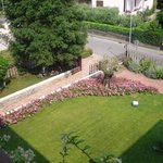 view of front garden from 315 balcony