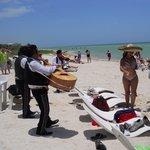 Marachi band on the beach