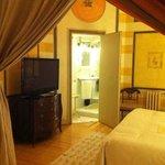 Dormitorio de la suite Damasco