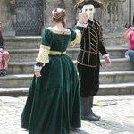 Period dancers at Cesky Krumlov-Czech Republic