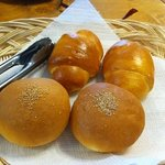 home baked rolls...