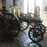 Antiker Dampf Feuerwehrwagen