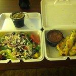 Salad and Garlic Knots