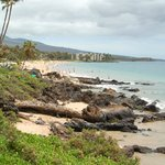 Rocky secluded beach area at base of property with Kamaole I Beach Park (walking distance) in b.
