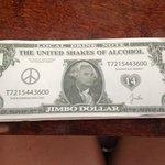 Jimbo $  - 5 Jimbo 4 = a free drink