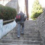 Escaleras de la ciudad, cansadoras pero disfrutables.