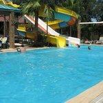 Medium sized pool and slides