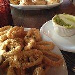 calamari & empanadas ... left over guacamole from tequenos app