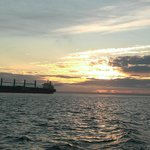 heading out of Grays Harbor to the open ocean