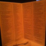 Wine list is like a bible. So long:-)