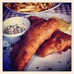 Deep-fried Fillet of Fresh 'BallyCotton Bay' Cod in Sparkling Water Batter