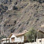 vistas de los vestigios incas desde la habitacion