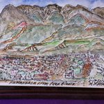 My husband's rendition of Humahuaca from Pena Blanca